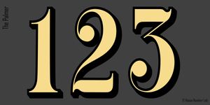 Fanlight 22K gold house numbers by House Number Lab - customize and order online at housenumberlab.com