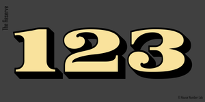 Brownstone traditional gold transom address numbers by House Number Lab, Reserve Style - customize and order online at housenumberlab.com