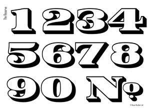 Traditional white transom address numbers by House Number Lab, Reserve Style - customize and order online at housenumberlab.com