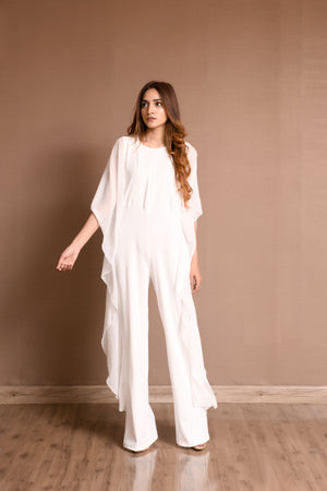 Lia Waterfall Sleeves Jump Suit