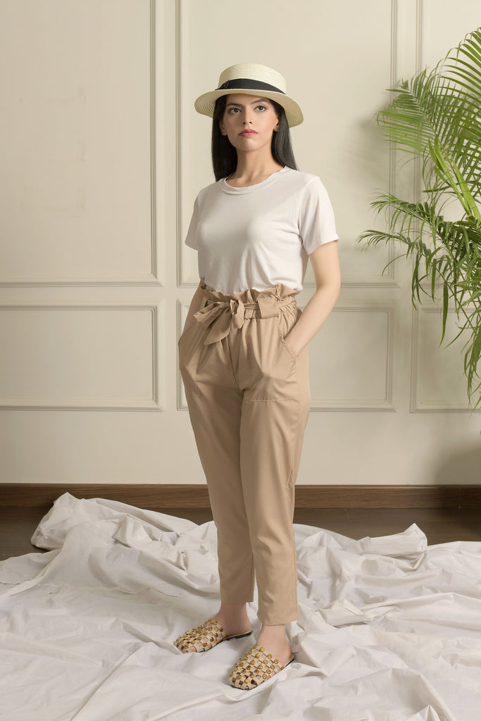 High waisted ruched pant
