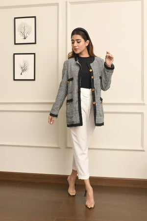 Monochrome Tweed Jacket