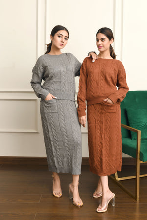 Sara Knit Co-ord Skirt Set
