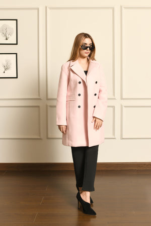 Lira Pink double breasted coat