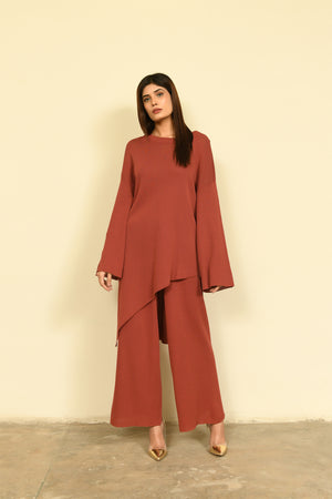 Hira Asymmetrical Set Rust