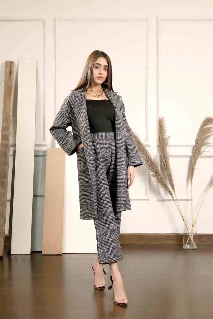 Aylin Houndstooth Coat Set