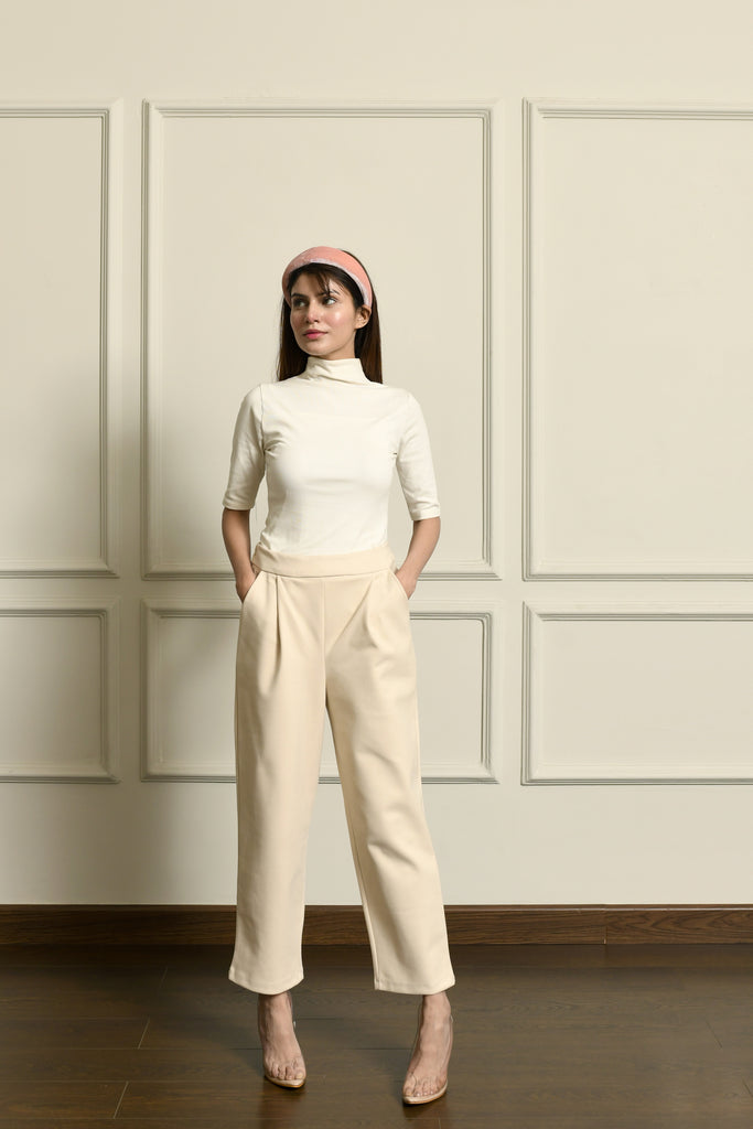 Ivory smoke pipe trousers