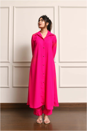 Kiren Pink Dress with Culottes
