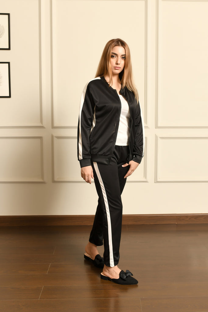 Black Gym Tracksuit with Inner