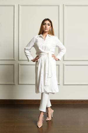 Diana White Wrap Dress / Suit