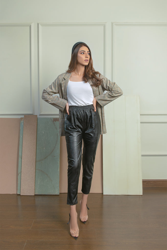Leather Jogger Trousers
