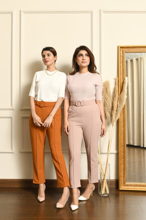 Aia High waisted belted Pant