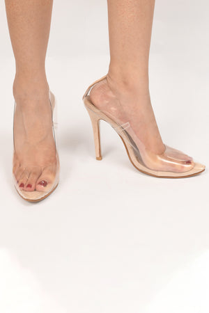 PVC Transparent Court Heels
