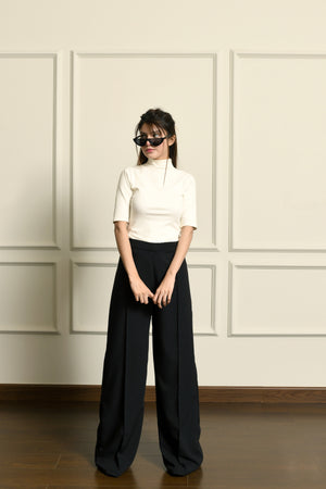 Classic Flared Pants Black