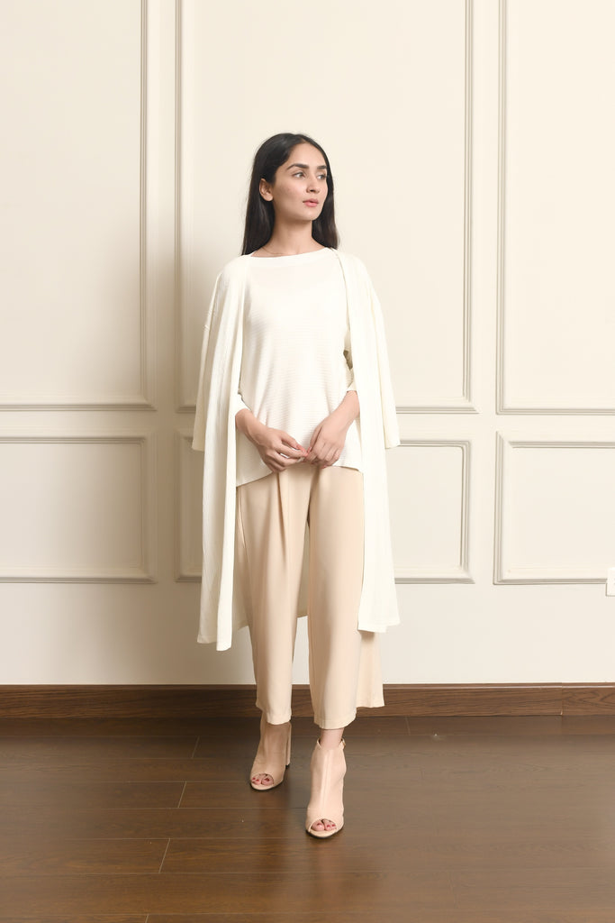 Ayra Long Ribbed Cardigan
