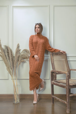 Classic Cable Knit Dress