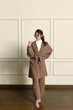 Dark khaki Wrap Belted Separates