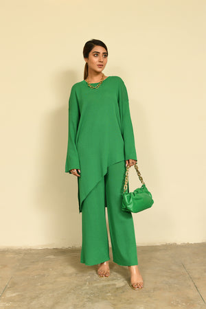 Hira Asymmetrical Set Green