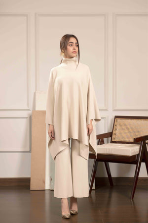 Lily Knitted Cape White Separates