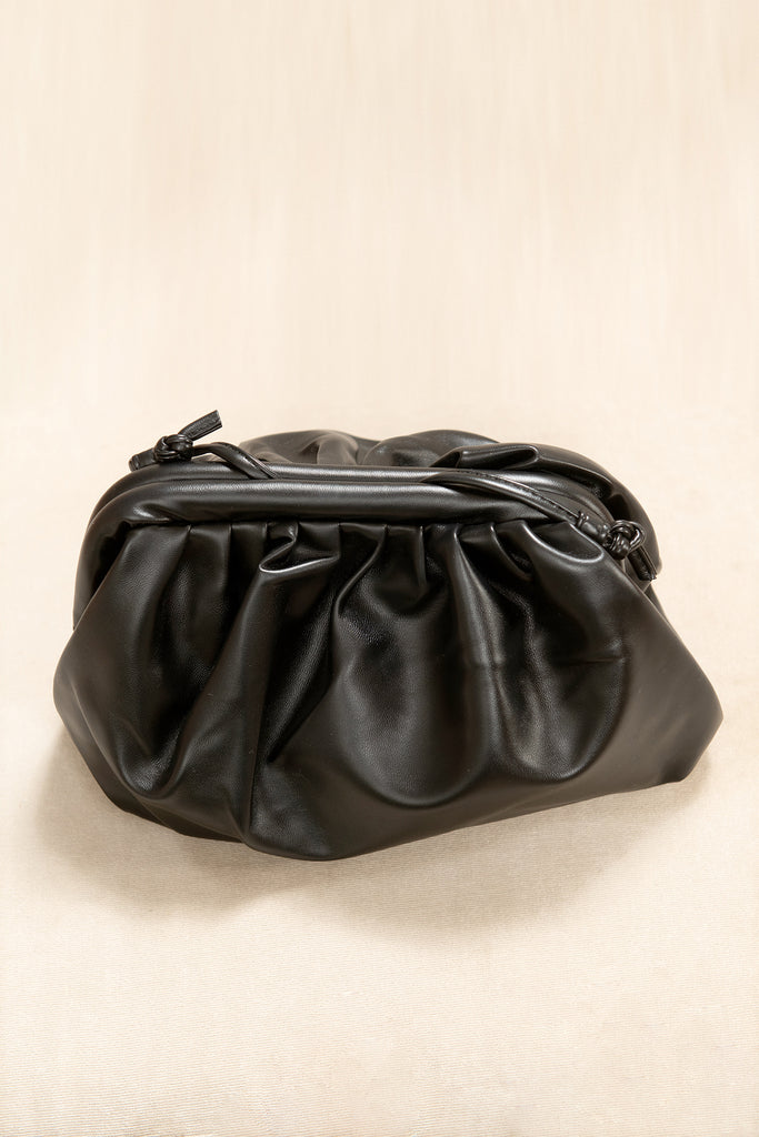 Rosy Black Pouch