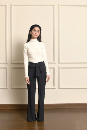 Belted Flared Pant