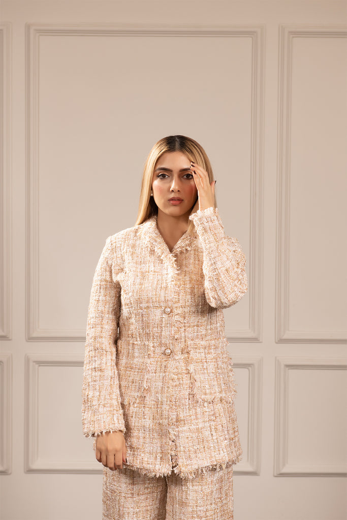 Neher Off White Tweed Set