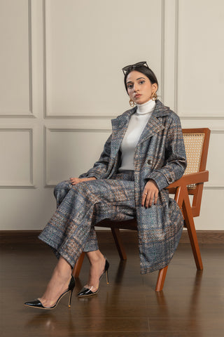 Mariana Plaid Coat Set