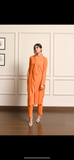 Orange Draped Suit