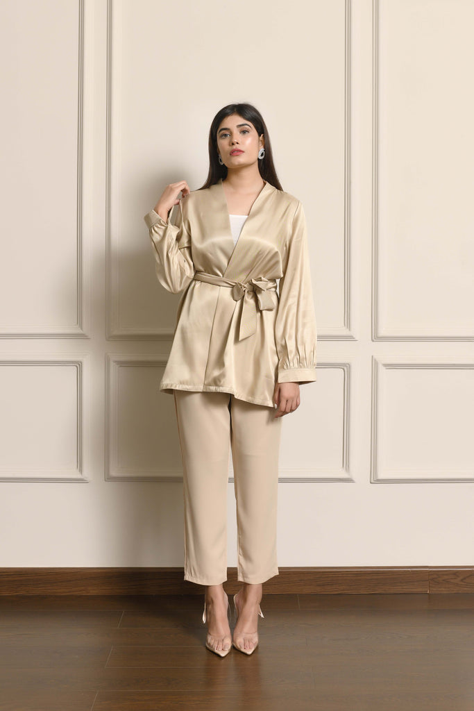 Chinyere Satin Blouse Set
