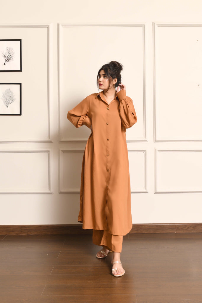 Kiren Khaki Dress with Culottes
