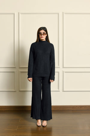 Black Cable knit Separates