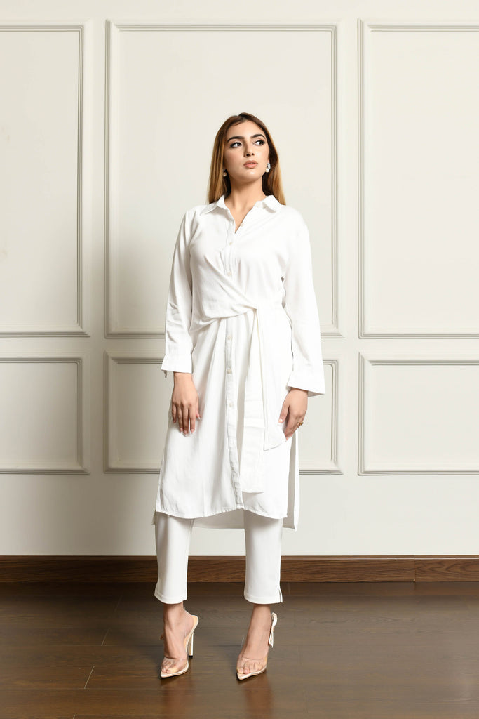 Diana White Wrap Dress