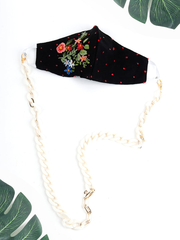 Elegant White Mask Chain