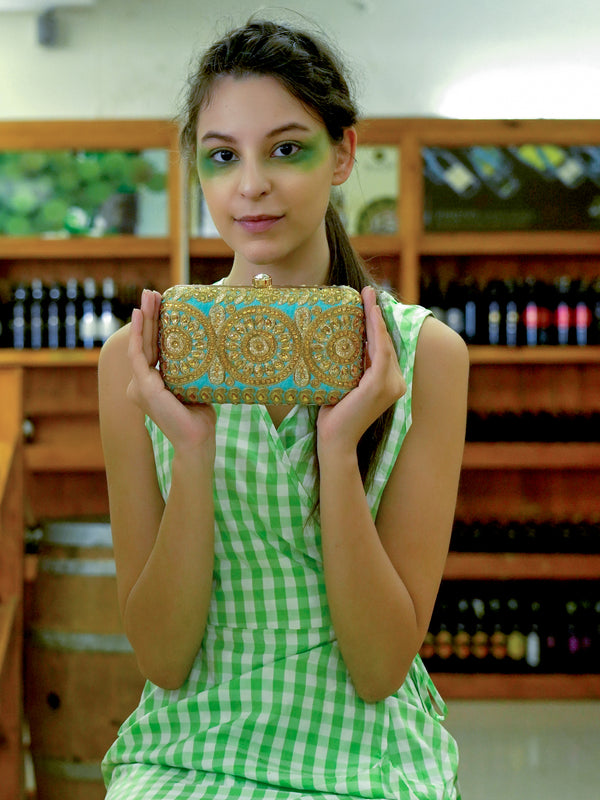 Turquoise Green Magical clutch