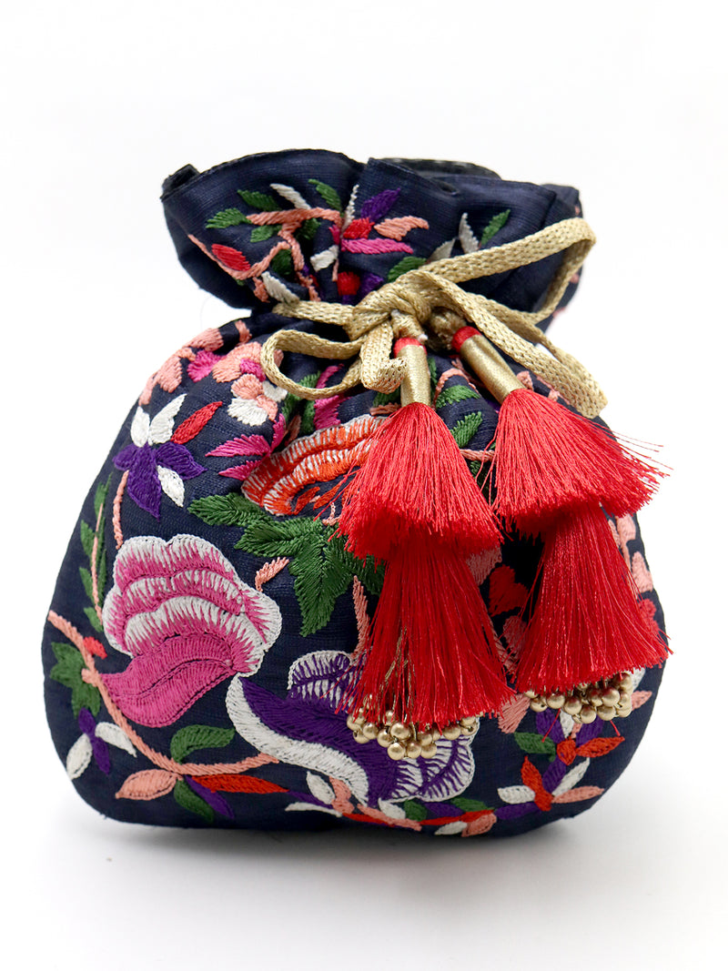 Blue Amazing Embroidered Potli Bag!