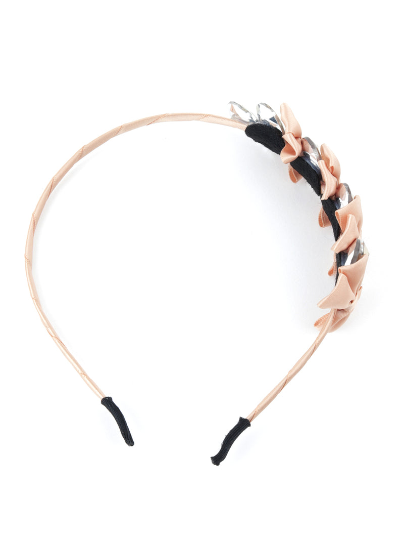 Slender Brown Knotted Hairband
