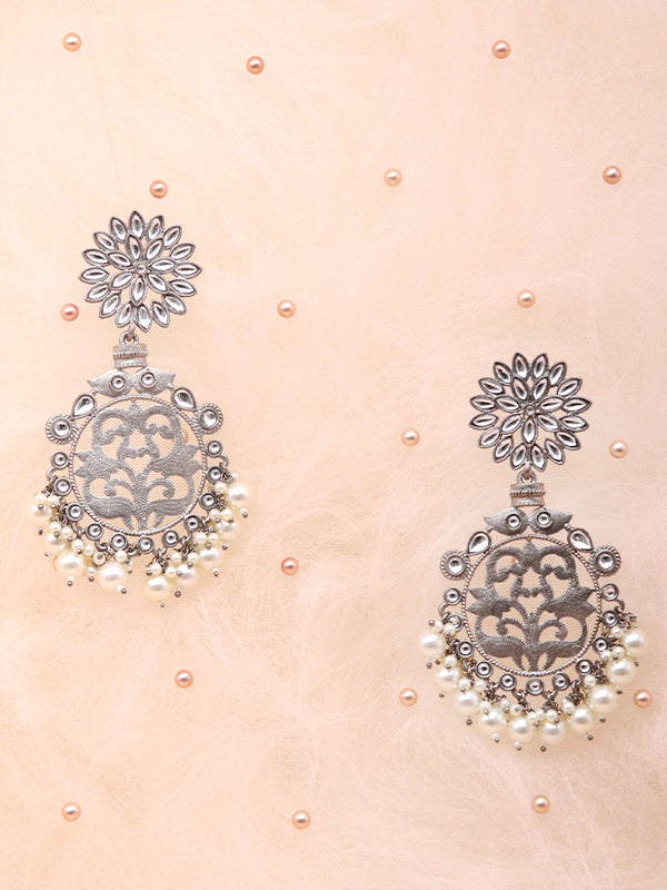 Antique Silver Monochrome Earrings