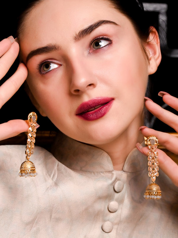 Traditional Studded Jhumki Earrings