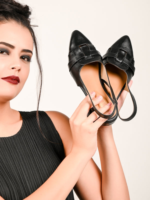 Odette Sophisticated Black Loafers
