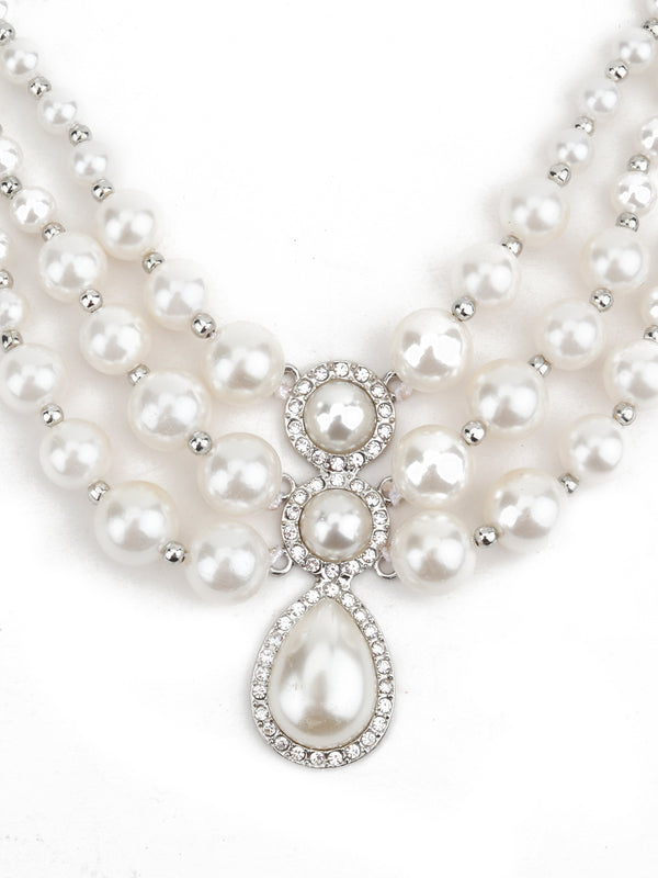 White Pearl Suave Necklace