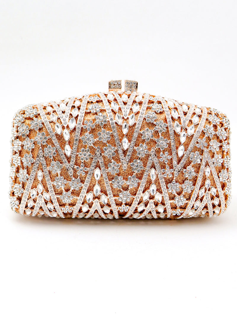Murky embellished copper clutch