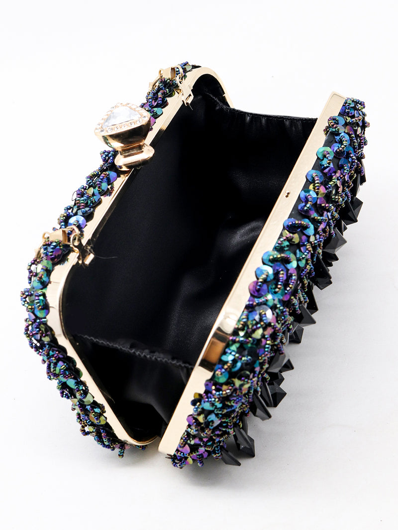 Gorgeous black shimmery clutch