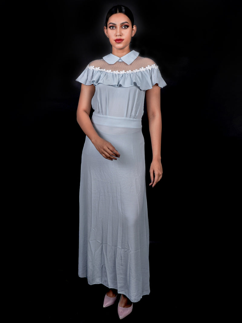 Long Powder Blue Chic Gown