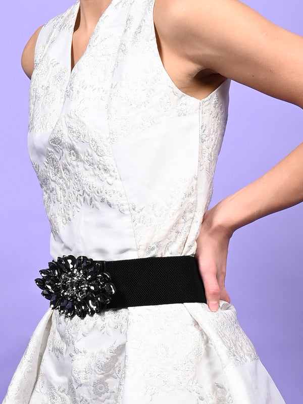Black Rich Elasticated Waist Belt
