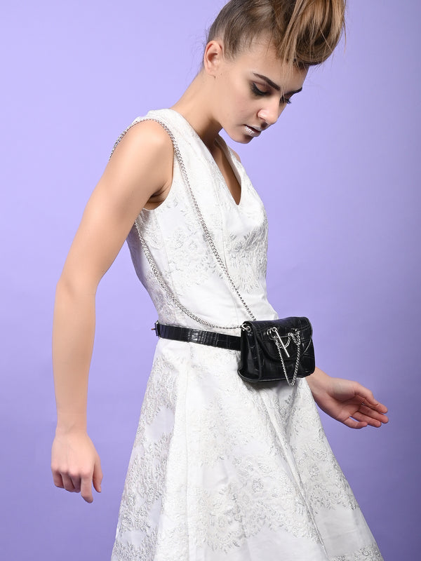 Polite Black Leatherette Belt Pouch