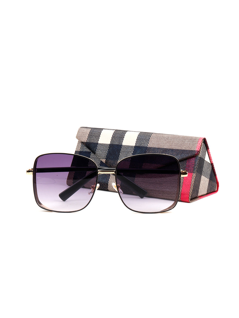 Square Shape Purple Flashy Sunglass
