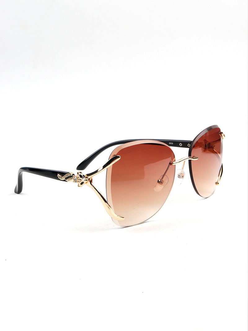 Brown Butterfly Elegant Sunglass