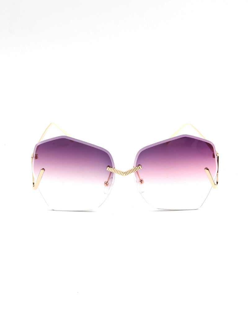Retro Square Violet Stylish Sunglass!