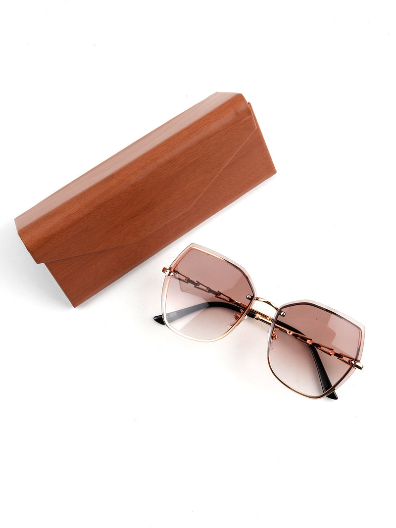 Brown Butterfly Shape Sunglass