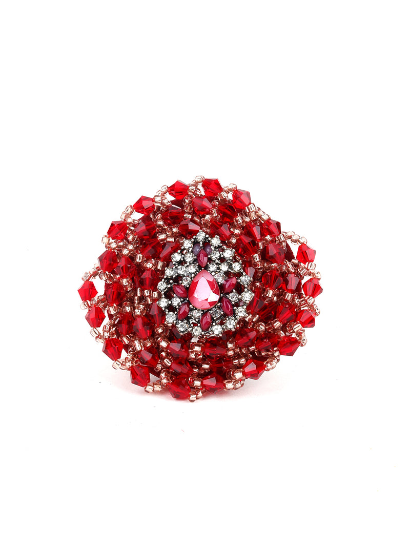 Stylish Red Finger Ring